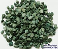 Green stone chippings